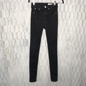 Rag & Bone High Rise Black Skinny Jeans